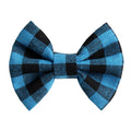 "Blue Buffalo Plaid - 3"" Fabric Bow"