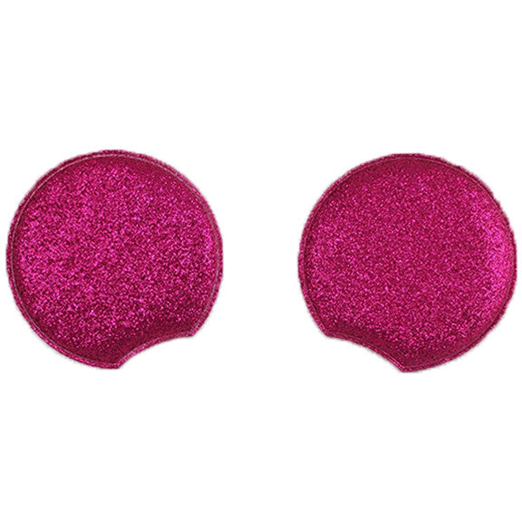 "Hot Pink - 2.75"" Glitter Mouse Ears"