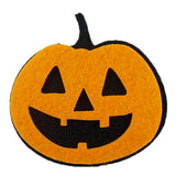 "Black & Orange Pumpkin - 2.25"" Halloween Felt Applique"