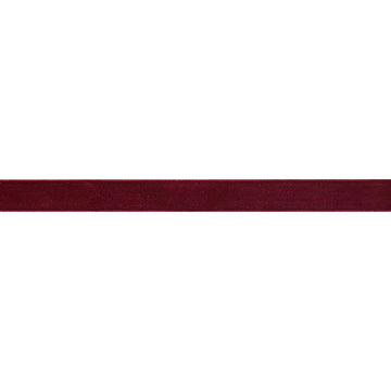 "Burgundy - 3/8"" Velvet Ribbon"
