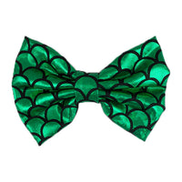 Green - XL Shiny Mermaid Bow