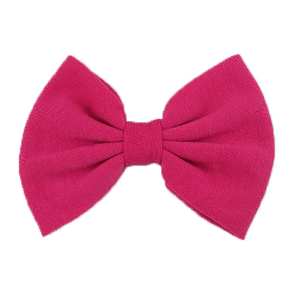 Hot Pink - XL Jersey Knit Bow