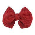 "Red - 4"" Bullet Fabric Messy Bow"