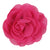 "Hot Pink - 3"" Silky Chiffon Rose Flower"