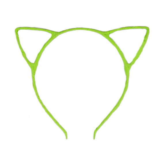 Neon Green - Cat Ears Headband