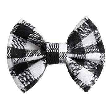 "White Buffalo Plaid - 3"" Fabric Bow"
