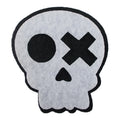 "Black & White Skull - 2"" Halloween Felt Applique"