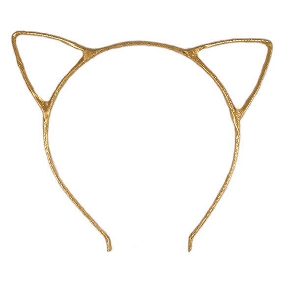 Gold - Cat Ears Headband