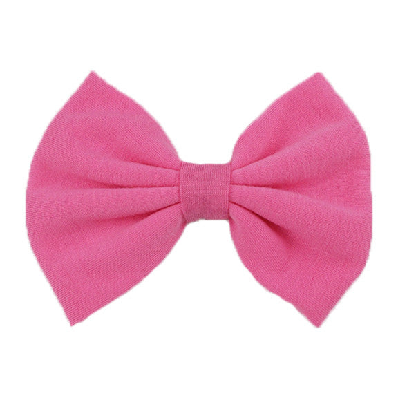 Pink - XL Jersey Knit Bow