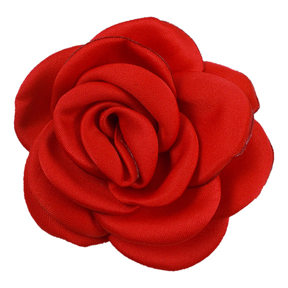 "Red - 2.25"" Satin Petal Rose"