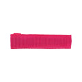 Hot Pink - Partially Lined - Single Prong Alligator Clip - 45mm