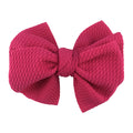 "Hot Pink - 4"" Bullet Fabric Messy Bow"