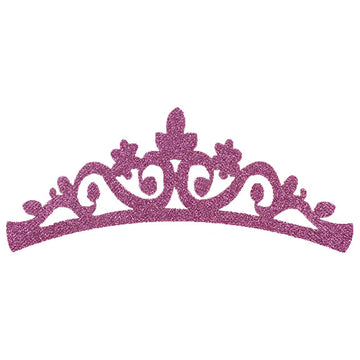 "Light Pink - 7"" Felt & Glitter Crown"