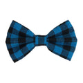 "Blue Buffalo Plaid - 4"" Fabric Bow"