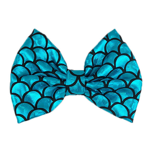 Blue - XL Shiny Mermaid Bow