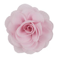 "Light Pink - 3"" Silky Chiffon Rose Flower"