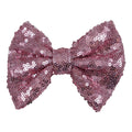 "Light Pink - 4"" Sequin Bow"