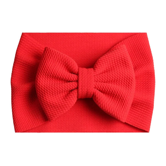 Red - Liverpool Bow Headwrap