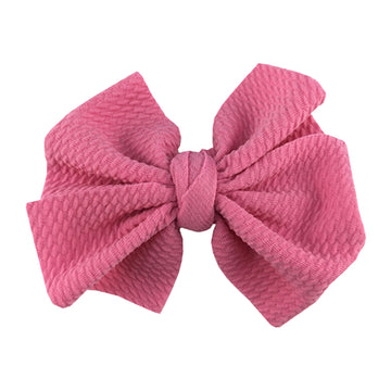 "Pink - 4"" Bullet Fabric Messy Bow"