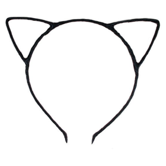 Black - Cat Ears Headband
