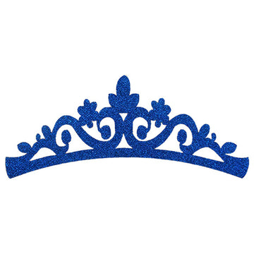 "Royal Blue - 7"" Felt & Glitter Crown"