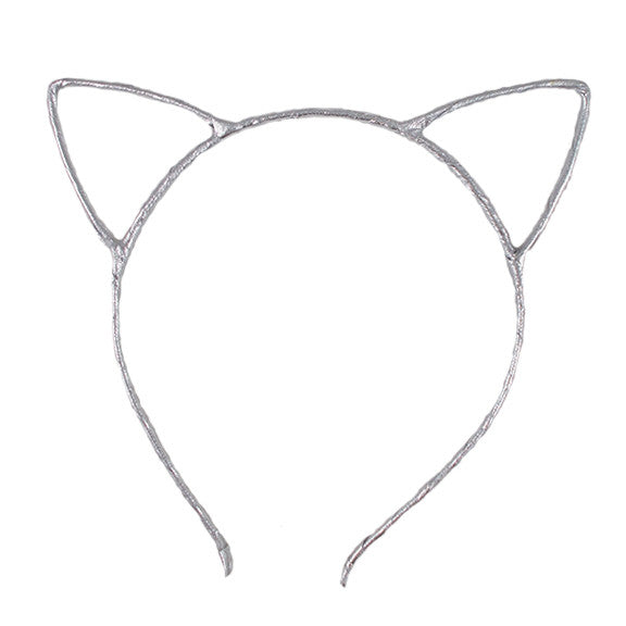 Silver - Cat Ears Headband