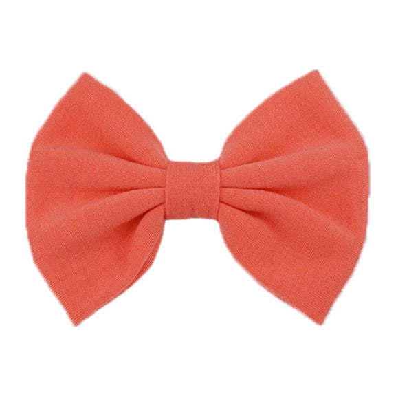 Peach - XL Jersey Knit Bow