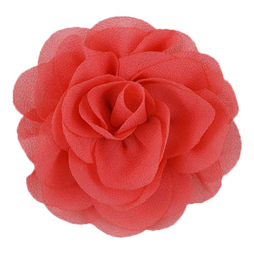 "Coral - 3"" Silky Chiffon Rose Flower"