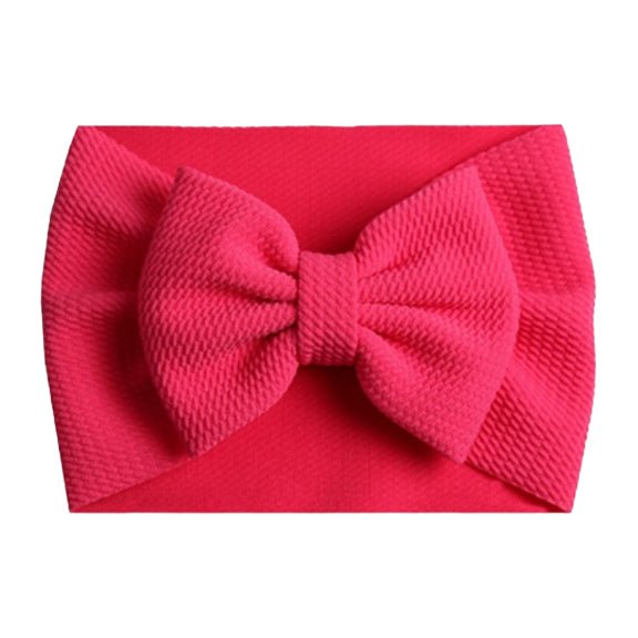 Hot Pink - Liverpool Bow Headwrap