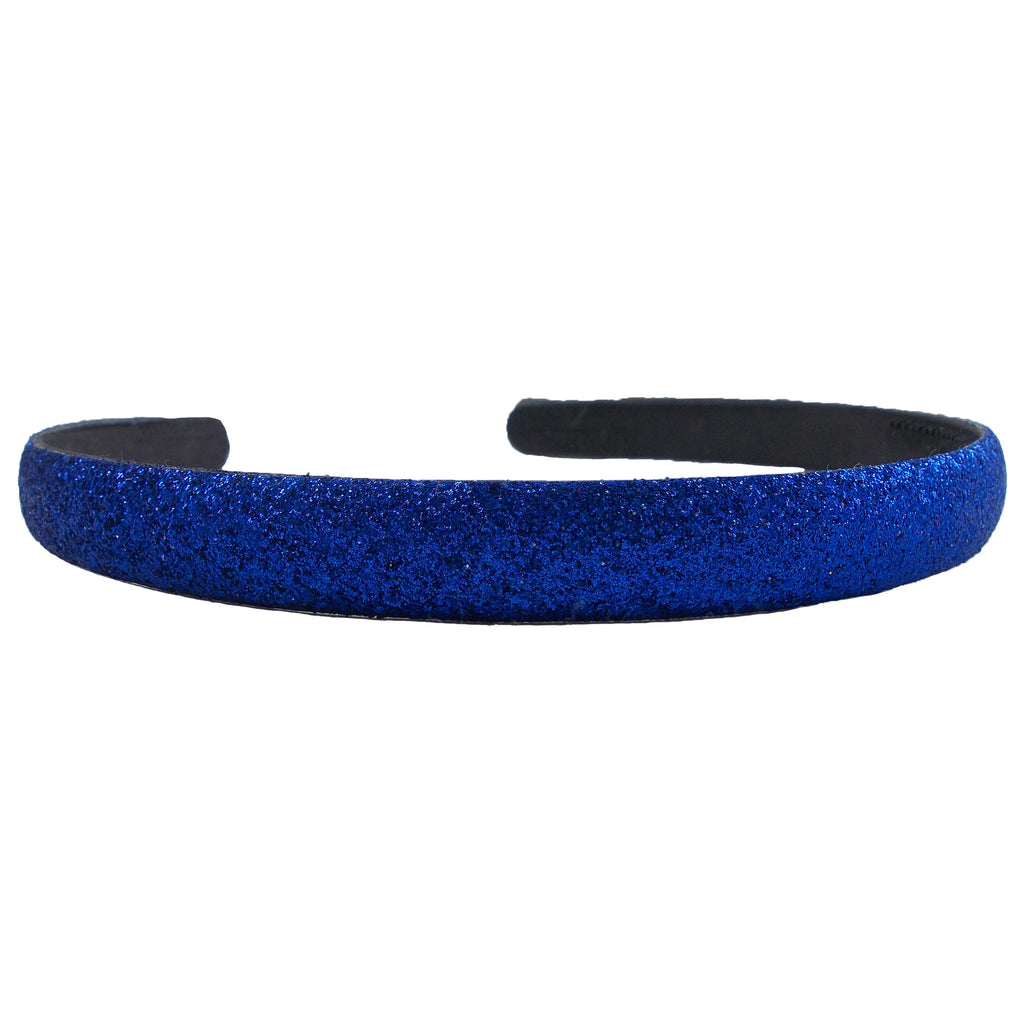 Royal Blue - 13mm Glitter Lined Headband with Teeth