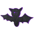 "Black & Purple Bat - 2.5"" Halloween Felt Applique"
