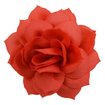 "Coral - 2.5"" Satin Lotus Flower"
