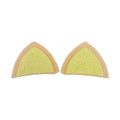 "Cream & Yellow - 1.75"" Glitter Cat Ears"