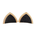 "Cream & Black - 1.75"" Glitter Cat Ears"