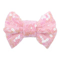 "Light Pink Iridescent - 4"" Sequin Bow"