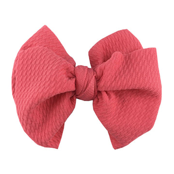 "Coral - 4"" Bullet Fabric Messy Bow"