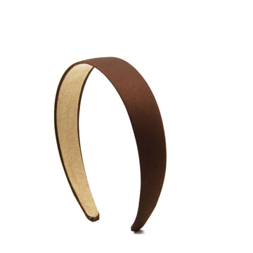 Brown - 25mm Satin Lined Headband
