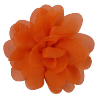 "Orange - 3"" Chiffon Puff"