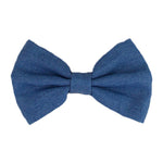 "Light Denim - 4"" Fabric Bow"