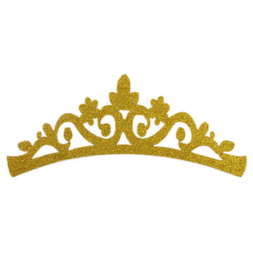 "Gold - 7"" Felt & Glitter Crown"