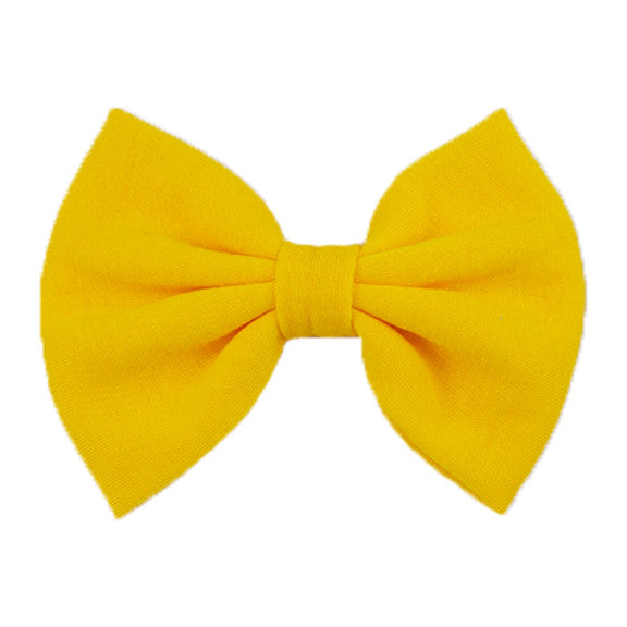 Yellow - XL Jersey Knit Bow