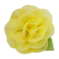 "Yellow - 2"" Chiffon Blossom Flower with Leaf"