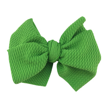 "Lime - 4"" Bullet Fabric Messy Bow"