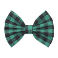 "Green Buffalo Plaid - 5"" Fabric Bow"
