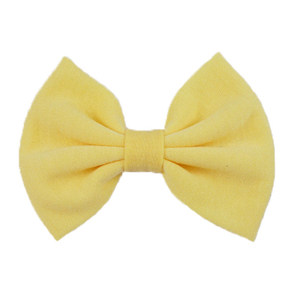Light Yellow - XL Jersey Knit Bow