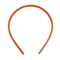 Orange - 7mm Satin Lined Headband