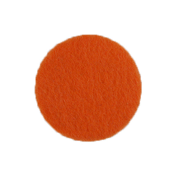 "Orange - 1"" Adhesive Felt Circles - Sheet of 8 Circles"