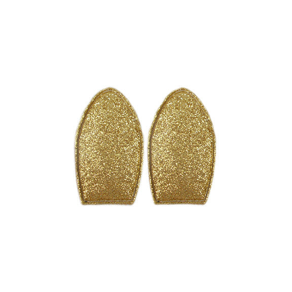Gold Glitter - Padded Bunny Ears