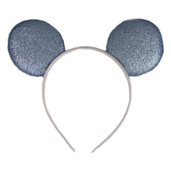 Cinderella Blue & White - Glitter Mouse Ears Headband