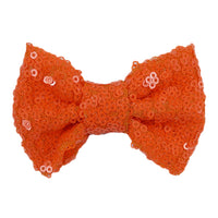 "Neon Orange - 4"" Sequin Bow"